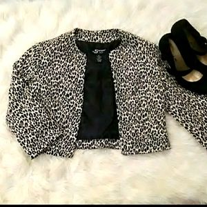 NWOT! Leopard Sharagano Jacket Blazer Sz S